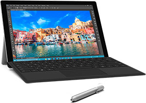 Surface Pro 4 with Black Type Cover  (128 GB, Core M3 900 MHz - 4GB)
