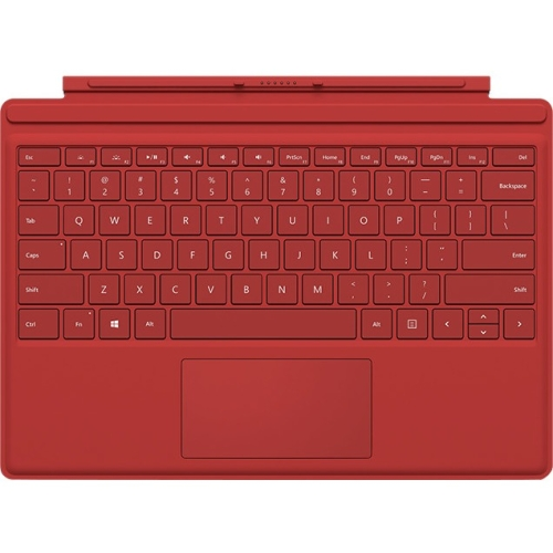 Microsoft Type Cover Keyboard/Cover Case for Tablet - Red