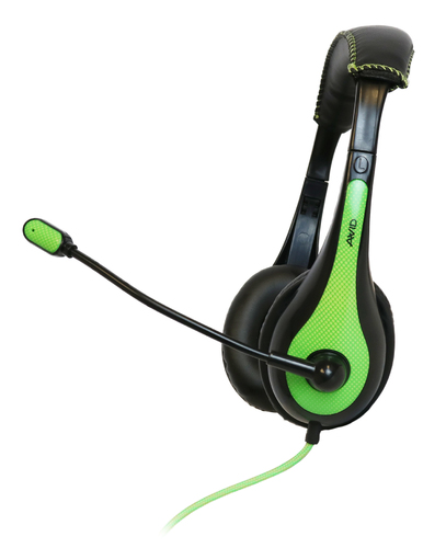 AE-36 Headphone with mic (Black/Green)