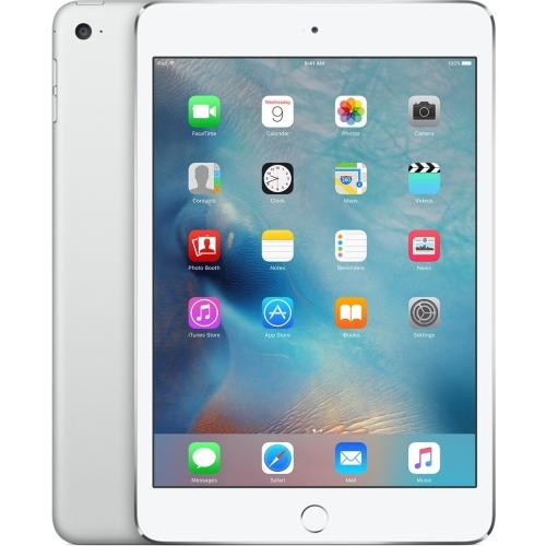 Apple iPad mini 4 128 GB Tablet - 7.9; 4:3 Multi-touch Screen - 2048 x 1536 - Retina Display - Apple A8 Dual-core (2 Core) 1.50 GHz - iOS 9 - Silver - Wireless LAN - Bluetooth - Imagination Technologies PowerVR GX6450 Graphics - Lightning - Barometer, Ambient Light Sensor, Accelerometer, Gyro Sensor, Digital Compass - Front Camera/Webcam - 8 Megapixel Rear Camera