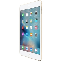 Apple iPad mini 4 128 GB Tablet - 7.9; 4:3 Multi-touch Screen - 2048 x 1536 - Retina Display - Apple A8 Dual-core (2 Core) 1.50 GHz - iOS 9 - 4G - GSM, CDMA2000 Cellular Network Supported - UMTS, HSPA, HSPA+, DC-HSDPA, EDGE, CDMA2000 1xEV-DO Rev A, CDMA2000 1xEV-DO Rev B, LTE - Gold - Wireless LAN - Bluetooth - Imagination Technologies PowerVR GX6450 Graphics - WWAN Supported - Lightning - Barometer, Ambient Light Sensor, Accelerometer, Gyro Sensor, Digital Compass - GPS - Front Camera/Webc