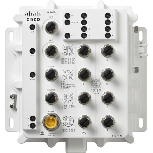 IP67 IE 8 10/100 poe, 2 GE, FD