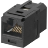 CAT6 RJ-45 COUPLER MODULE BLACK