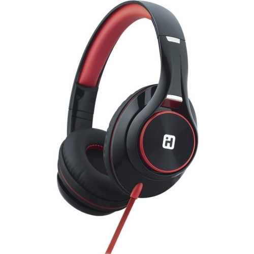 OTE Headphones w Mic Blk Red
