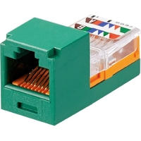 MINI-COM MODULE CAT5E GREEN