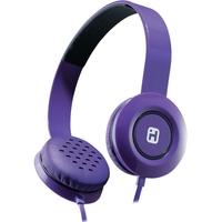 Headphones w Flat Cbl Blk Prpl