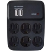 WW USB Charger Surge 6 Outlet