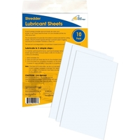 10PK SHREDDER LUBRICANT SHEETS