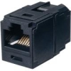 MINI-COM COUPLER CAT 6A BLACK