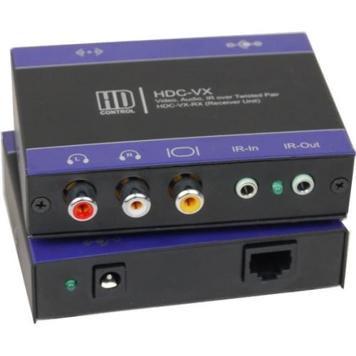 NTSC PAL AUDIO IR CAT5 RECEIVER