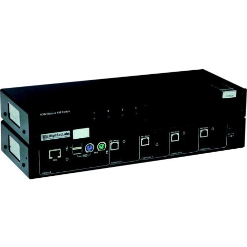 K304-SH 4PORT USB RJ45 SECURE