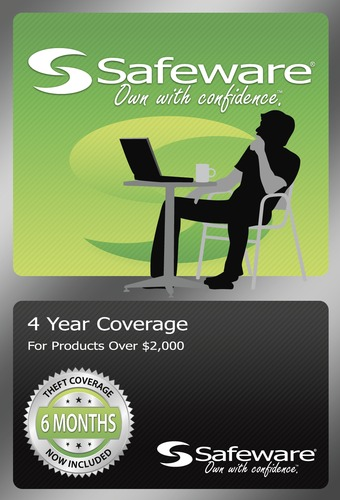 Safeware Coverage - $2001-$4000- Extends coverage to 4 years w/acc damage - Green card
