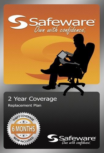Safeware Coverage - up to $400 - 2 years - Replacement Only - Orange card