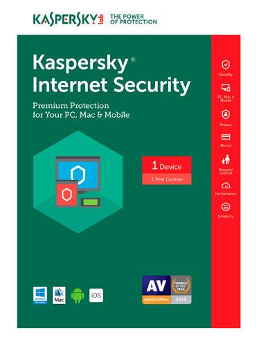 Kaspersky Internet Security 2017 (1 PC/1 Year)