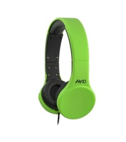AE-42 Stereo Headset with Inline MIC / Green, 32 Ohm