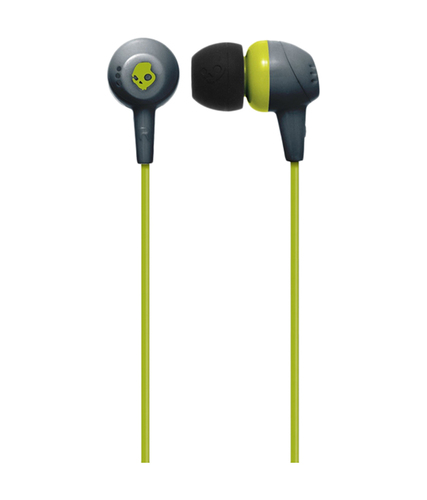 Skullcandy Jib Gray/Hot Lime | In Ear Headphones