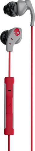 Skullcandy Method In-Ear Sweat Resistant Sports Earbud, Gray/Red/Swirl