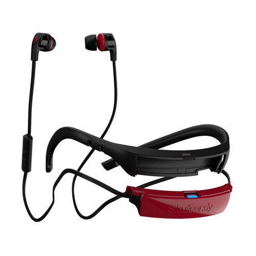 Skullcandy Smokin Buds 2.0 Bluetooth Earbud Headphones Black/Red
