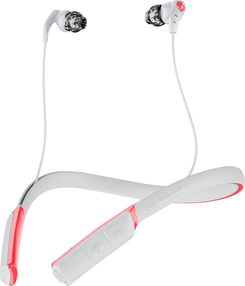 Skullcandy Method Bluetooth Wireless Earbuds Grey/Red Swirl