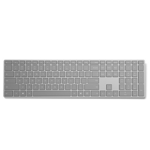 Microsoft Surface Keyboard - Wireless Connectivity - Bluetooth - English (US) - Compatible with Smartphone (Mac, Android, Windows, iOS) - QWERTY Keys Layout - Gray ENGLISH US