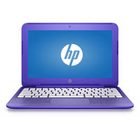 "HP Stream 14-ax000 14-ax020nr 14"" Notebook - Intel Celeron N3060 Dual-core (2 Core) 1.60 GHz - 4 GB DDR3L SDRAM - 32 GB Flash Memory - 1366 x 768 - BrightView - Purple"