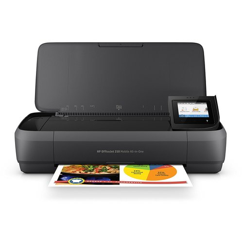 HP Officejet 250 Inkjet Multifunction Printer - Color - Plain Paper Print - Portable
