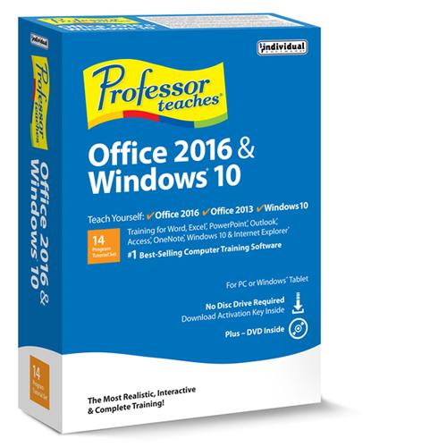 Professor Teaches Office 2016 & Windows 10 Tutorial Set (Win - Download)