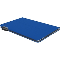 Logitech Type+ Keyboard/Cover Case for iPad Air 2 - Electric Blue - Textured