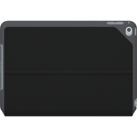"""Logitech Focus Carrying Case (Folio) for iPad mini 4 - Black - Water Resistant, Spill Resistant, Bump Resistant, Scratch Resistant - Polycarbonate, Synthetic Weave - 5.5"""" Height x 8.2"""" Width x 0.7"""" Depth"""