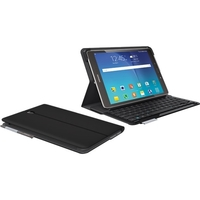 """Logitech Type - S Keyboard/Cover Case (Folio) for 9.7"""" Tablet - Black - Water Resistant - Polyurethane Leather, Acrylonitrile Butadiene Styrene (ABS) - 7.2"""" Height x 10.3"""" Width x 0.8"""" Depth"""