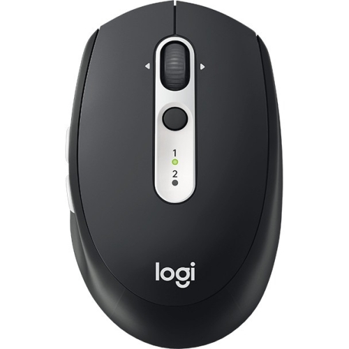 Logitech M585 Multi-Device Multi-Tasking Mouse - Optical - Wireless - Bluetooth/Radio Frequency - Graphite - USB - 1000 dpi - Computer - Tilt Wheel - 5 Button(s)