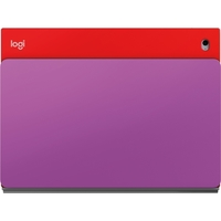 "Logitech BLOK Keyboard/Cover Case (Folio) for 9.7"" iPad Air 2 - Red, Violet - Water Resistant, Drop Resistant, Shock Absorbing, Impact Absorbing, Bump Resistant, Damage Resistant - 7.3"" Height x 9.9"" Width x 0.9"" Depth"