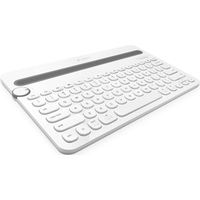 Logitech Bluetooth Multi-Device Keyboard K480 - Wireless Connectivity - Bluetooth - Compatible with Computer, Smartphone - QWERTY Keys Layout - White