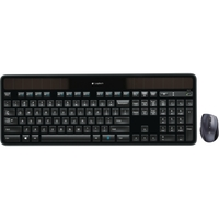 Logitech Wireless Solar Keyboard & Marathon Mouse Combo MK750 - USB 2.0 Wireless RF USB 2.0 Wireless RF Laser - 1000 dpi - Tilt Wheel - On/Off Switch Hot Key(s) - Button Cell, AA - Compatible with Computer