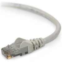 Belkin Cat.6 Patch Cable - RJ-45 Male - RJ-45 Male - 12ft - Gray