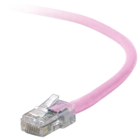 Belkin Cat5e Patch Cable - RJ-45 Male - RJ-45 Male - 10ft - Pink