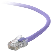Belkin Cat5e Patch Cable - RJ-45 Male - RJ-45 Male - 20ft - Purple