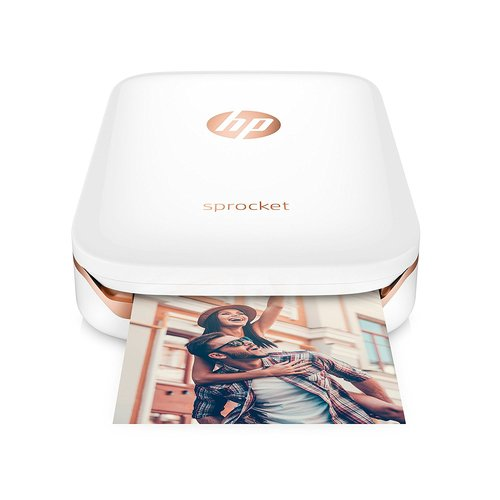 HP Sprocket Zero Ink Printer - Color - Photo Print - Portable - White