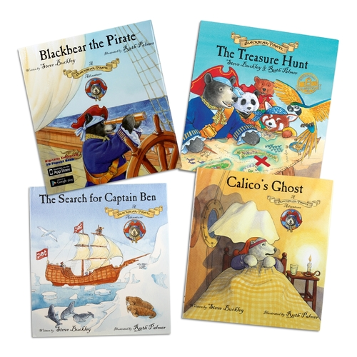 Blackbear The Pirate Series - Augmented And Virtual Reality 3D Interactive Children's Book Series - Set Of 4
