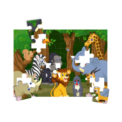 "Print-A-Puzzle - Pre-Perforated, Printable, Blank Puzzle Paper - 8.5""X11"" Pack Of 25, 24 Jigsaw Pieces Per Sheet"