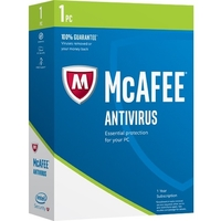 McAfee AntiVirus 2017 - Box Pack - 1 PC - Antivirus - Mini Box