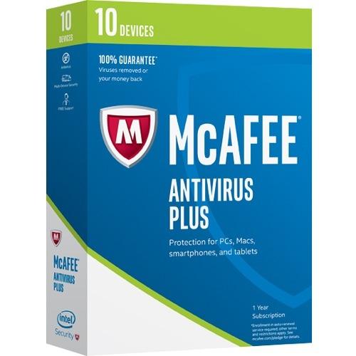 McAfee AntiVirus 2017 - 10 Device - Antivirus - Box - Retail - PC