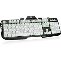 Kaliber Gaming HVER Aluminum Gaming Keyboard - Imperial White