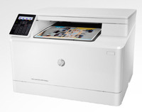 HP LaserJet Pro M180nw Laser Multifunction Printer - Color - Plain Paper Print - Desktop - Copier/Printer/Scanner - 27 ppm Mono/19 ppm Color Print - 600 x 600 dpi Print - Manual Duplex Print - 1 x Input Tray 150 Sheet, 1 x Output Bin 100 Sheet LCD - 1200 dpi Optical Scan - 150 sheets Input - Fast Ethernet - Wireless LAN - USB - 150 to 1500 Recommended Monthly Print Volume
