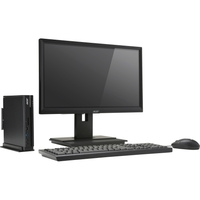 Acer Veriton N4640G Nettop Computer - Intel Core i3 (7th Gen) i3-7100T 3.40 GHz - 8 GB DDR4 SDRAM - 256 GB SSD - Windows 10 Pro 64-bit - Intel HD Graphics 630 Graphics - Wireless LAN - Bluetooth - 6 x Total USB Port(s) - USB Type-C