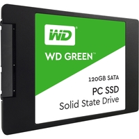 "WD Green WDS120G1G0A 120 GB 2.5"" Internal Solid State Drive - SATA - 540 MB/s Maximum Read Transfer Rate - 430 MB/s Maximum Write Transfer Rate"