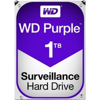 WD Purple 1TB Surveillance Hard Drive - 5400rpm - 64 MB Buffer