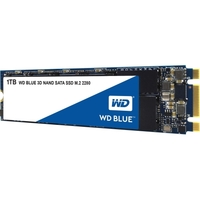 WD Blue 3D NAND 1TB PC SSD - SATA III 6 Gb/s M.2 2280 Solid State Drive - 560 MB/s Maximum Read Transfer Rate - 530 MB/s Maximum Write Transfer Rate