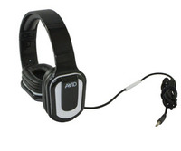 AE-66 Stereo Headphone, Inline MIC, Volume Control, White