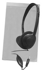 AE-711 On-Ear Headphones Classroom Pack & Case, with Volume Control (Qty 24)